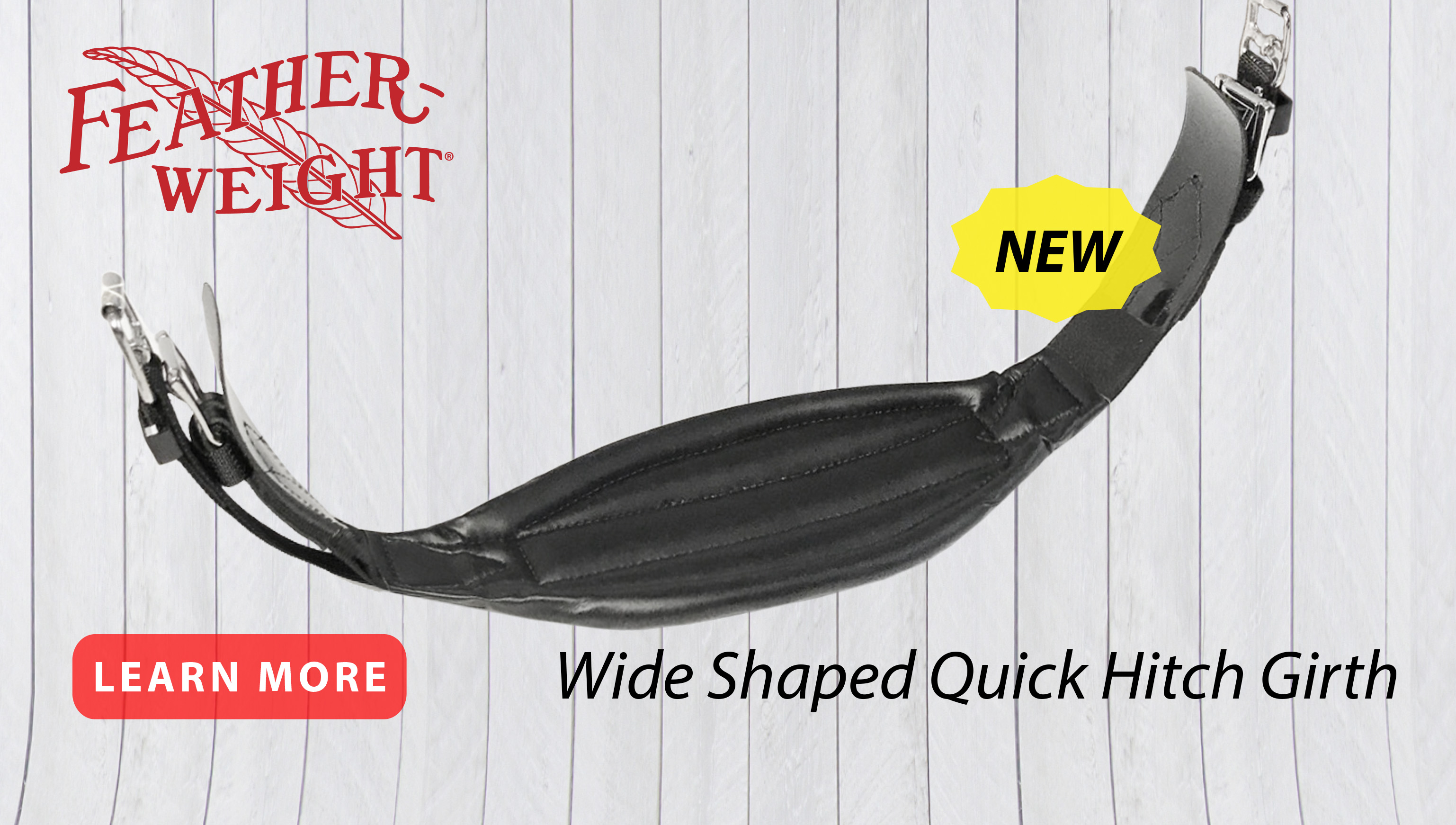 New Wide Shaped Girth from Feather-Weight by JACKS