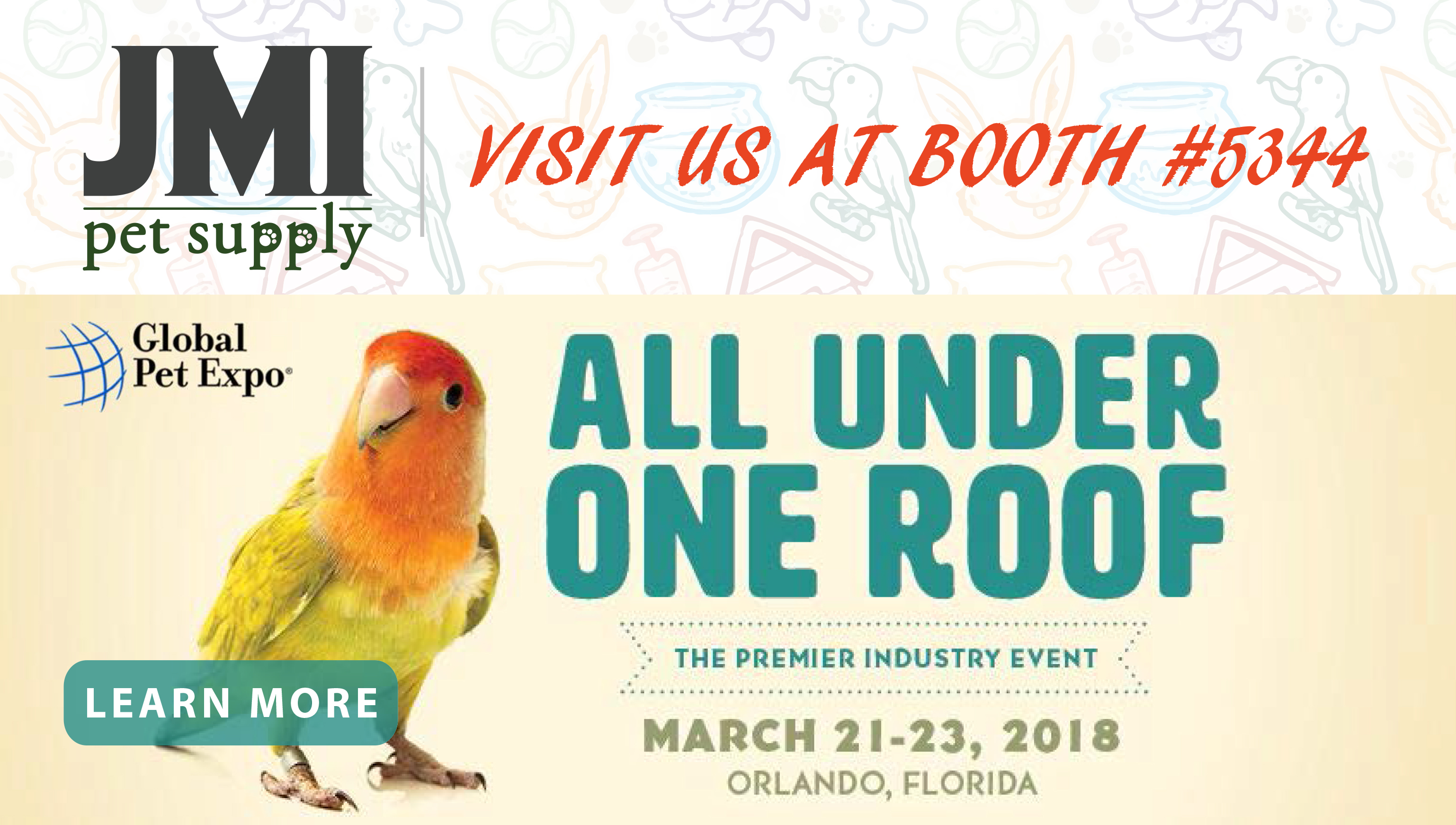 Visit us at the 2018 Global Pet Expo