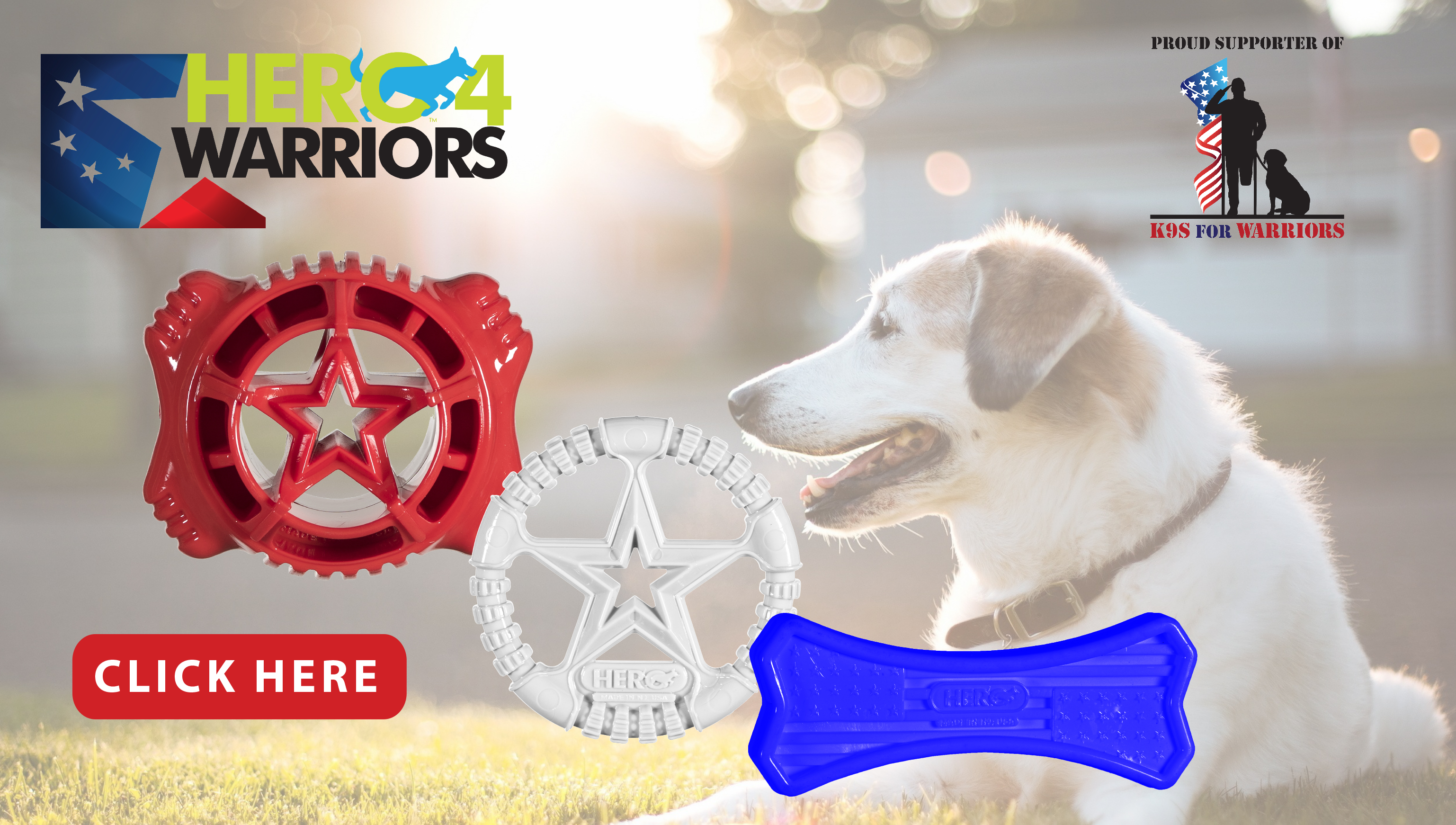 New at JMI Pet Supply - Hero 4 Warriors USA Dog Toys