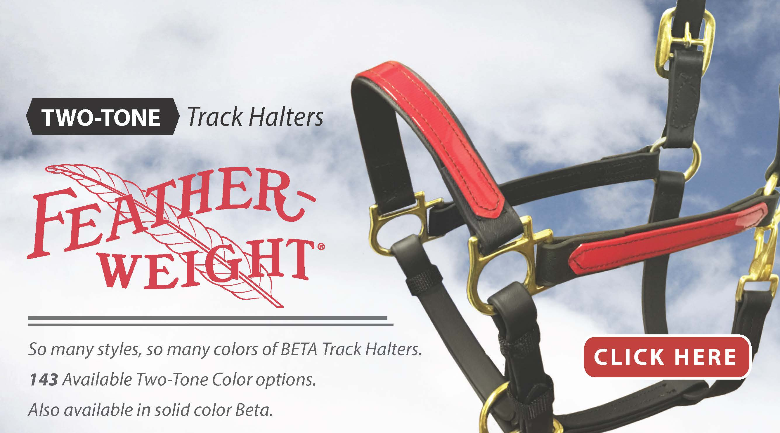 New Two Tone Halters from Feather-Weight®